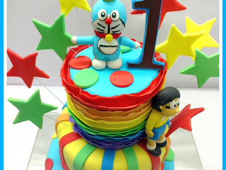 How we made the Best Doraemon cake !