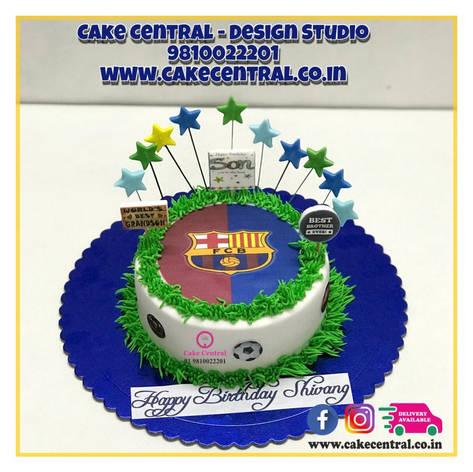 FC Barcelona Cake Delhi | Foot Ball Cake |Soccer Cakes Delhi Online with delivery to Delhi , Noida & Gurgaon