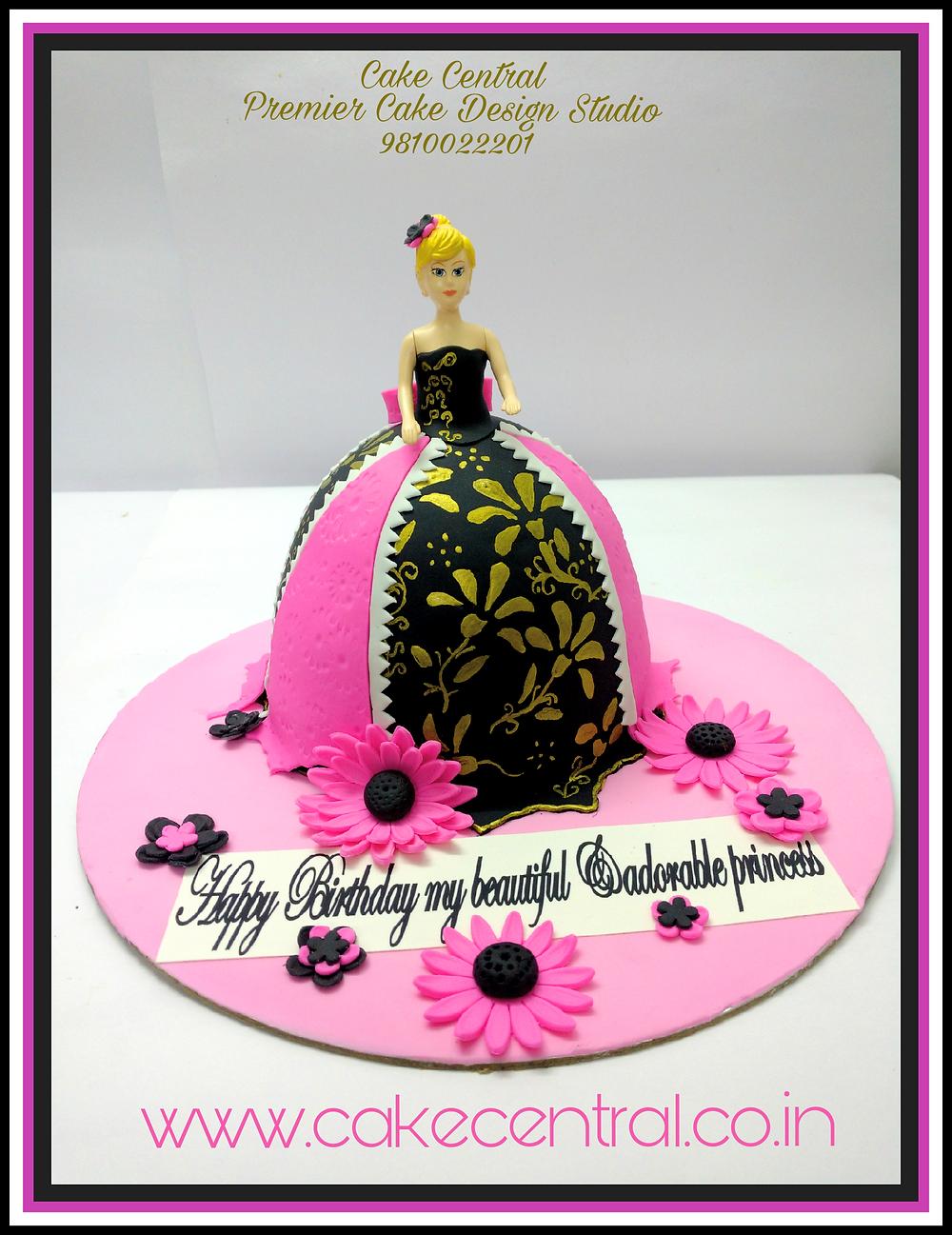 Barbie Doll Cake Delhi ,Doll Cake Delhi , Princess Cake Delhi , 4D Barbie Cake , Barbie Princess Theme Fondant Cake ,  3D Designer Barbie  Cake , Barbie Doll shaped Birthday Cake  -  Cake Central –Premier Cake Design Studio  Delhi  . New Delhi .