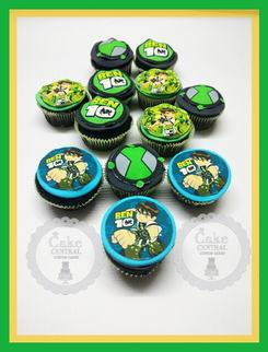Ben10 Themed  Birthday CupCake By Cake Central - Premier Cake Design Studio . New Delhi