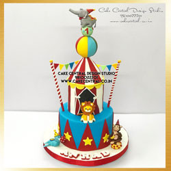 Circus Elephant First Birthday Cake in Delhi Online