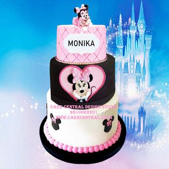 Minnie Mouse Theme Birthday Cake Delhi by Cake Central Design Studio