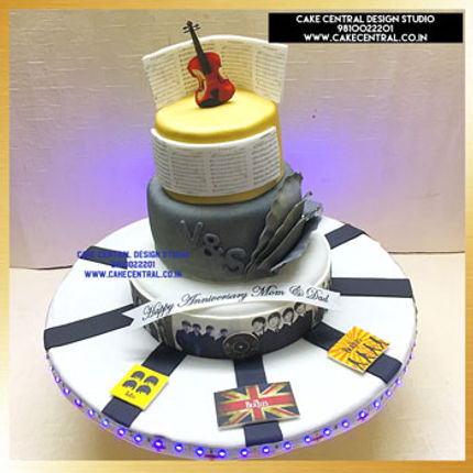Musical Cake for Dad in Delhi Online