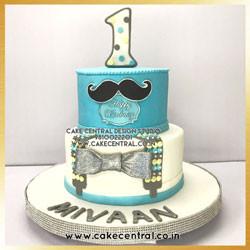 Moustache Cake in Delhi Online for 1st Birthday