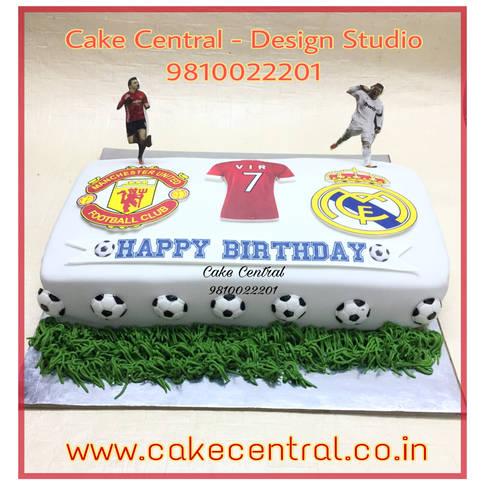 FootBall Cake Delhi | Messi Cake Delhi | FCB Cake Online with Delivery in Delhi , Gurgaon , Noida