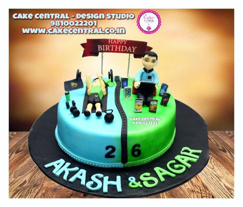 Gym Lovers Theme Cake Delhi |