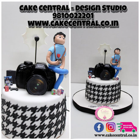 Camara Cake for photographe Delhi