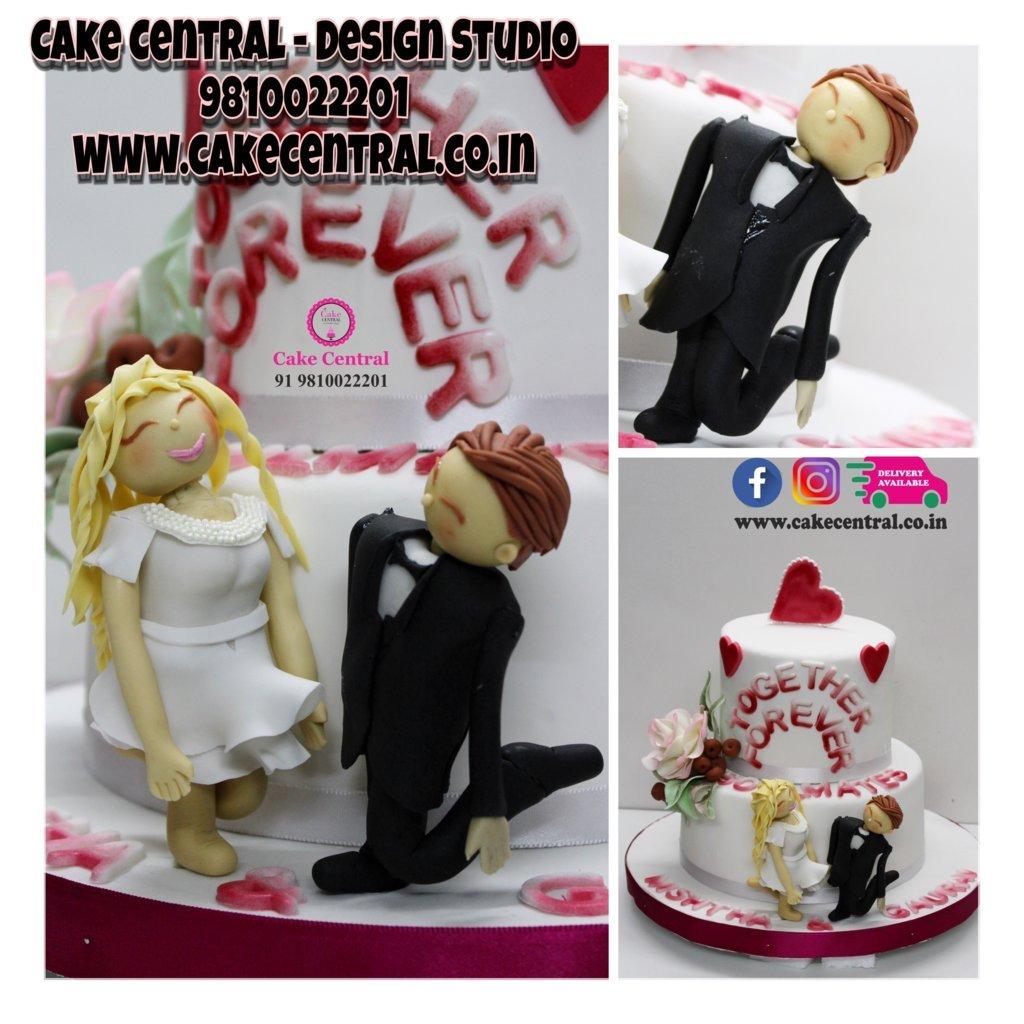 Together Forever Wedding Cake Delhi