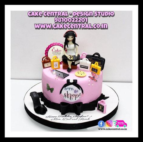 Born to Shop Cake for Girls in Delhi