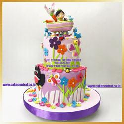 Jungle Cake For Baby Girl's 1st Birthday in Delhi Online