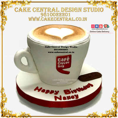 4D Coffee Cup / Mug theme Cake in Delhi Online