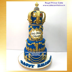 Royal Crown Cake Delhi Online - First Birthday Cake for Baby Boy