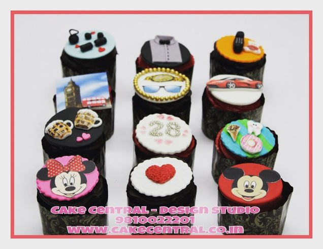 London , Shirt , Beer , Watch & Glasses Themed  Cupcakes Delhi | Customized Cupcakes with Delivery Delhi, Gurgaon , Noida - Cake Central Delhi