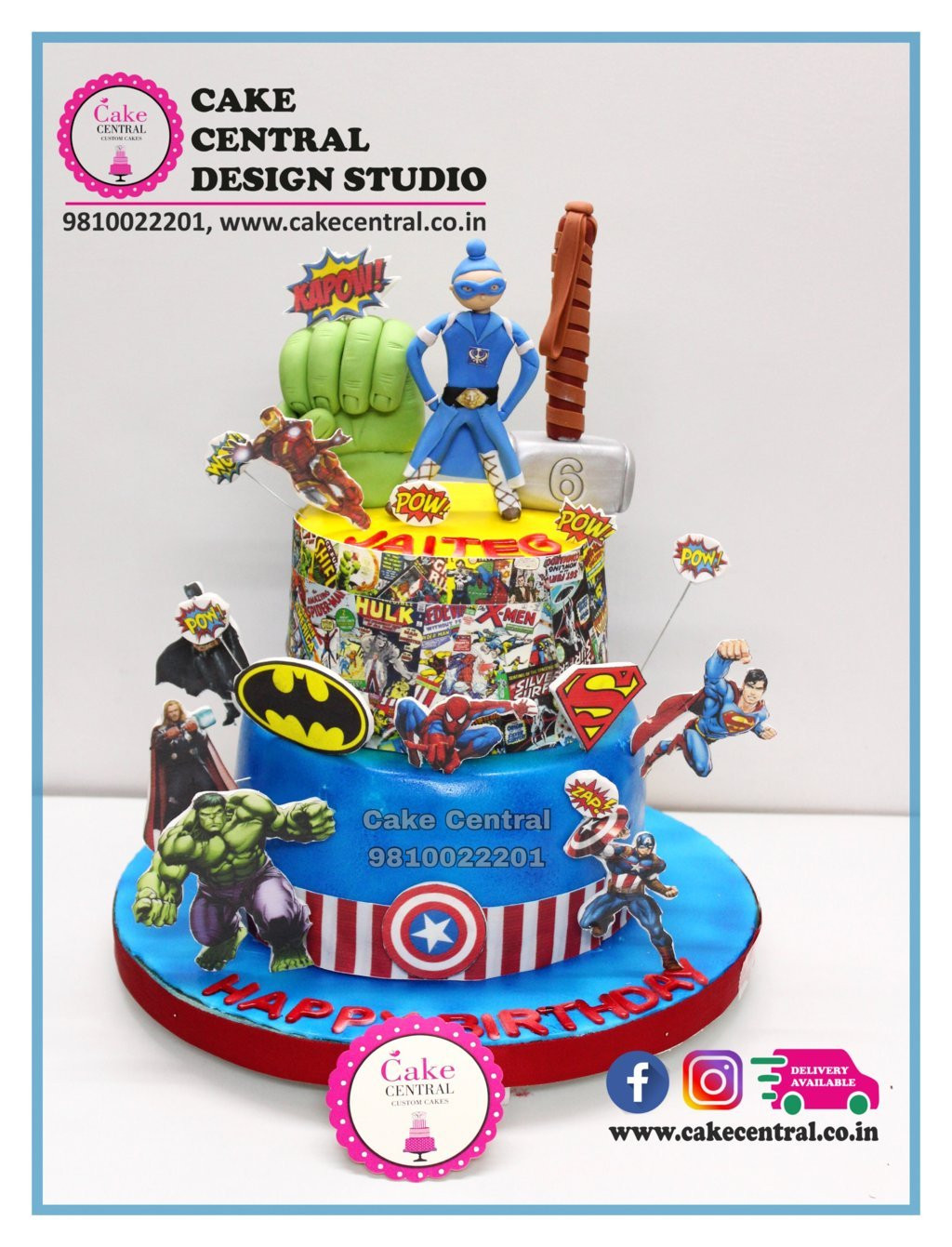 Avengers Super Heros Cake In Delhi Online Teletubbies Birthday