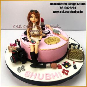 Makeup Cake Designs  in Delhi Online