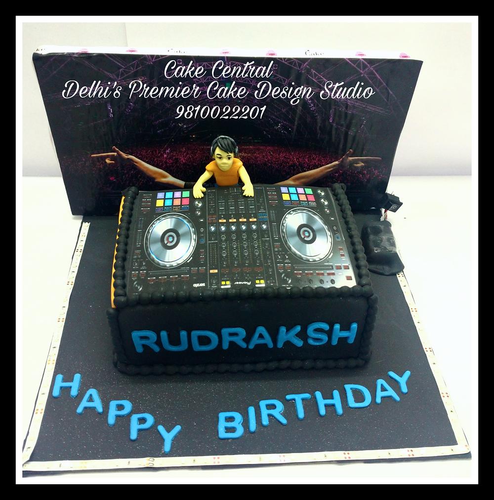 DJ Theme Designer  Cake Delhi , DJ theme Fondant Cake , Customized  Designer DJ theme Birthday Cake  , 4D DJ Cake Delhi by Cake Central - Premier Cake Design Studio Delhi 9810022201