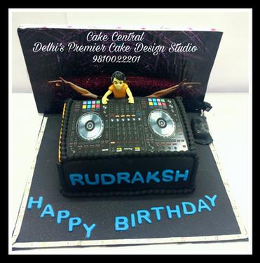 DJ Birthday Cake Delhi , 3d DJ themed custom made  Cake Delhi . Cake Central - Premier Cake Design Studio - Delhi NCR , South Delhi