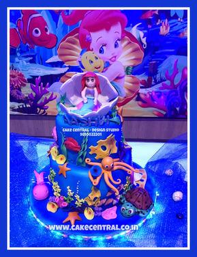 Mermaid Cake Delhi | Little Mermaid Themed Cake | Kids Cartoon Cake | Online Cake Delivery Delhi , Delhi NCR , Gurgaon ,Noida