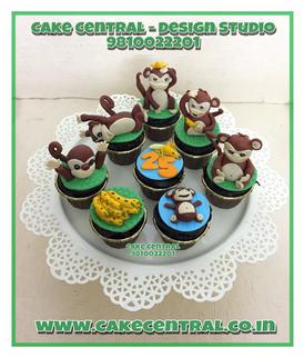 Animals in zoo Theme Cupcakes Delhi | Cupcakes Delivery Delhi , Gurgaon , Nodia .Cake Central - Premier Cake Design Studio , New Delhi , Delhi