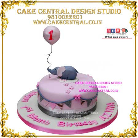 Jungle Cake with Elephant in Delhi Online