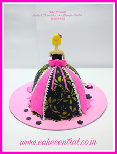 Doll Cake Delhi , Barbie Doll Cake Delhi , Princess Cake Delhi , 4D Barbie Cake , Barbie Princess Theme Fondant Cake ,  3D Designer Barbie  Cake , Barbie Doll shaped Birthday Cake  -  Cake Central –Premier Cake Design Studio  Delhi  . New Delhi .