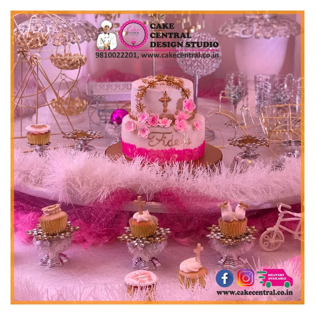 Order Beautiful Baptism Cakes Delhi