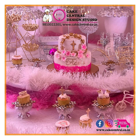Baptism Christening Cakes & Cupcakes in Delhi , Noida & Gurgaon Online . Cake Central - Premier Cake Design Studio , New Delhi, Delhi ,Holy communion cakes & Cupcakes in , Noida ,Delhi Gurgaon , Baptism Christening Cupcakes for Boys & Girls