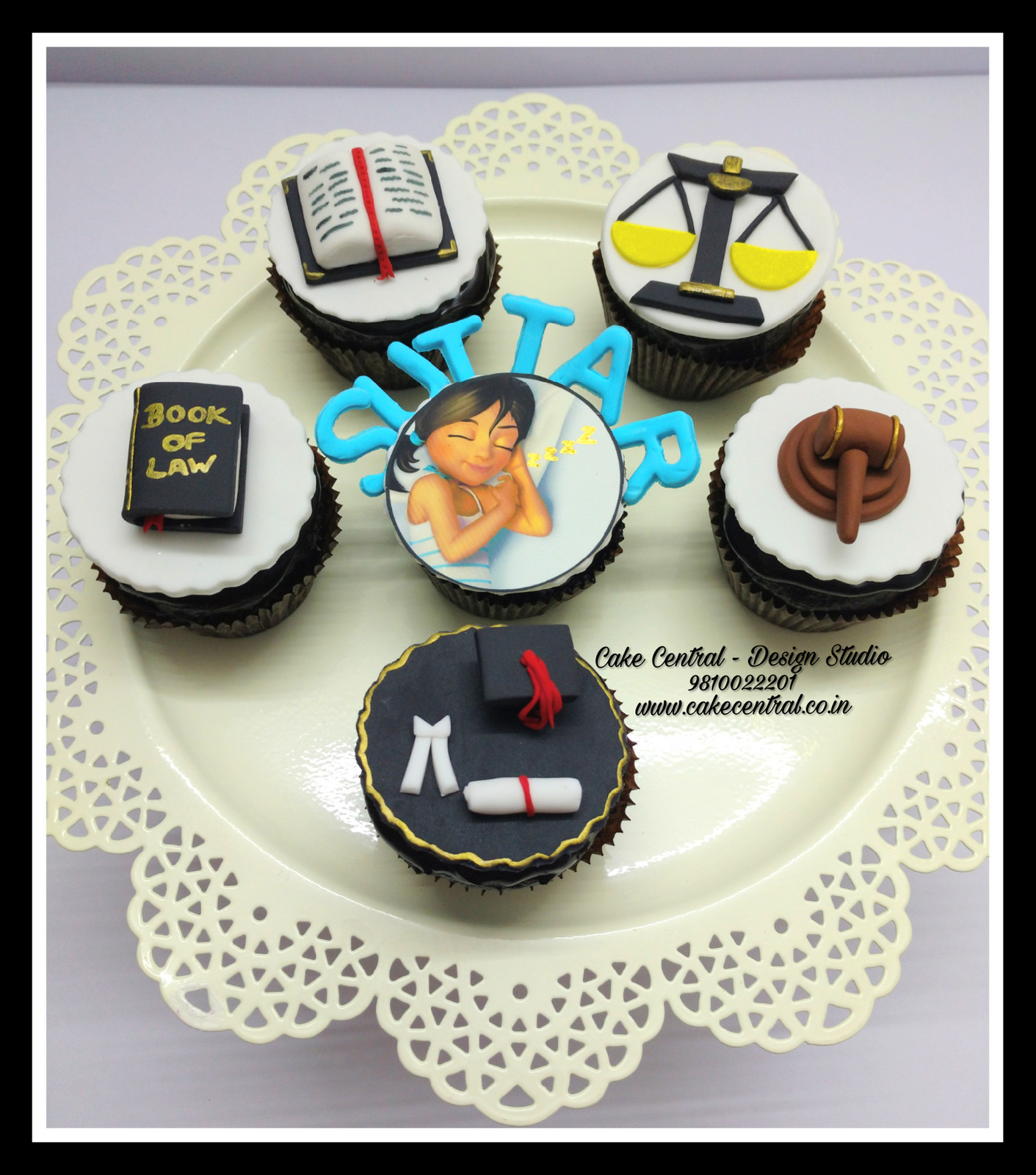 Law Themed Designer Cupcakes