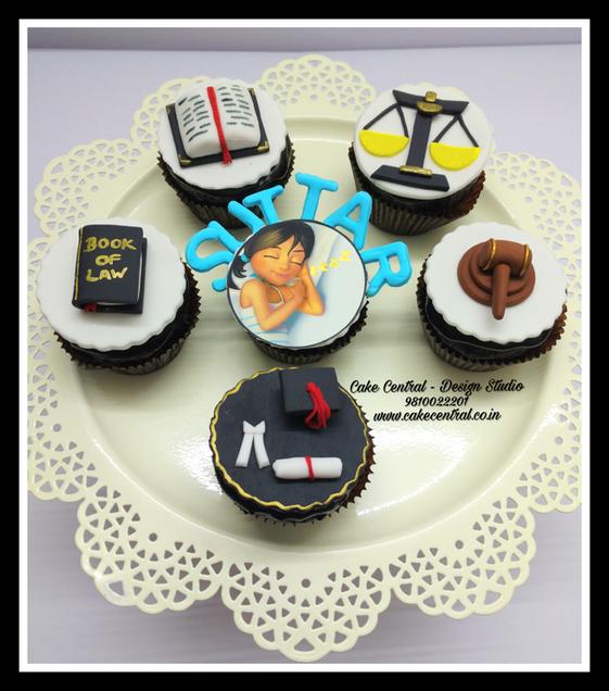 Law themed Designer Cupcakes - Cake Central Premier Cake Design Studio Delhi. New Delhi .