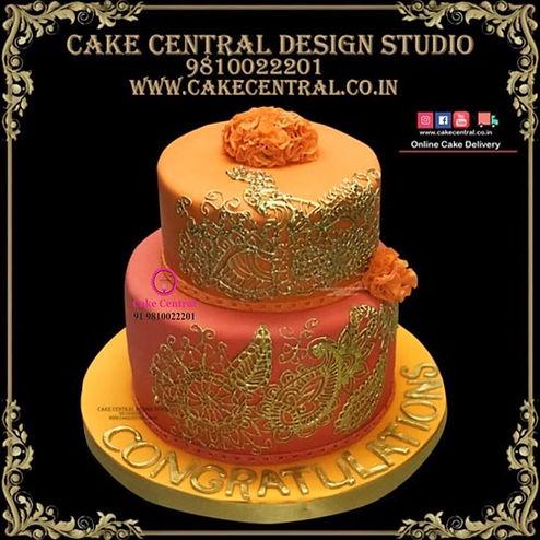 Henna Mehndi Cake in Delhi Online