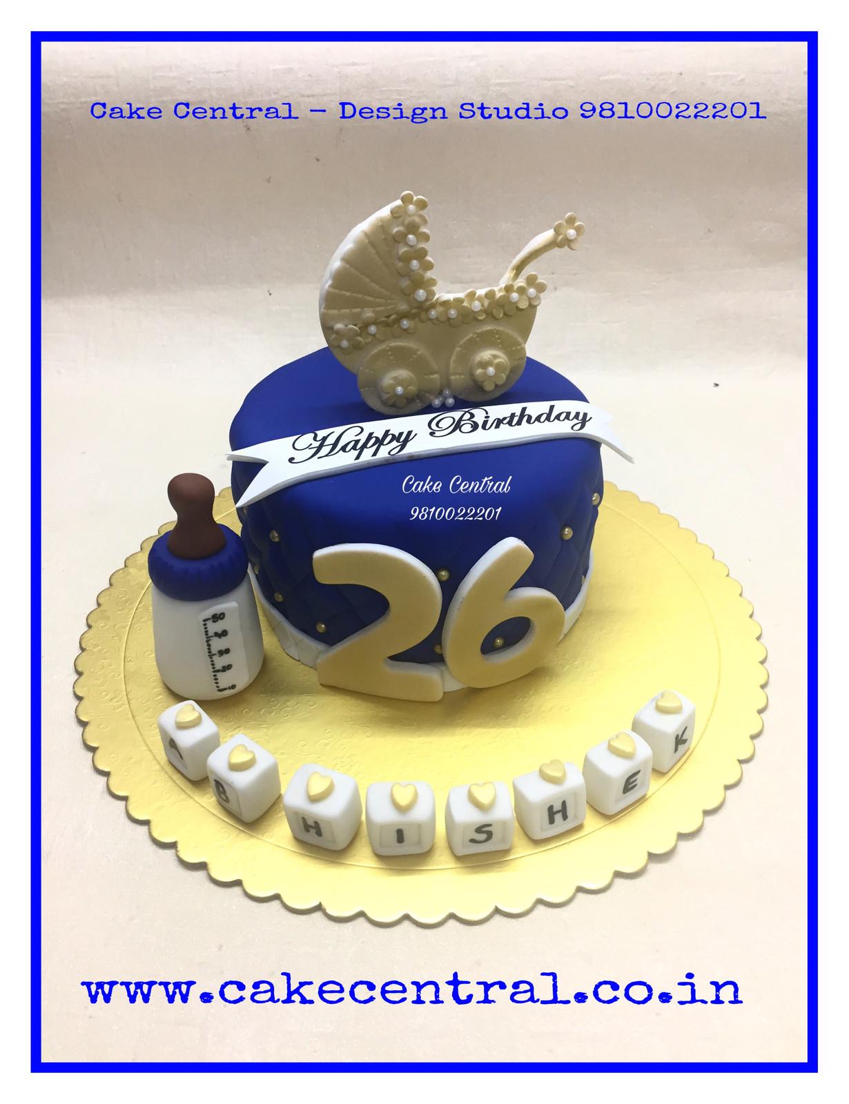 Kids Golden Birthday Cake