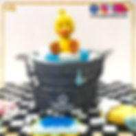 Duck in the Bucket theme Designer Cake for Kids of Cake Central Design Studio. 3D Cakes Online  in Delhi