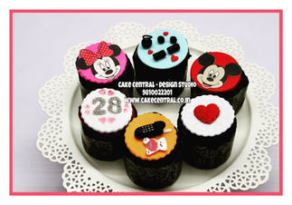 Gym, Mobile,Micky Mouse ,Heart Themed  Cupcakes Delhi | Customized Cupcakes with Delivery Delhi, Gurgaon , Noida - Cake Central Delhi