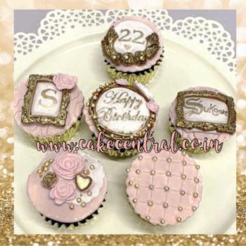 elegent personalised cupcakes for girls in delhi