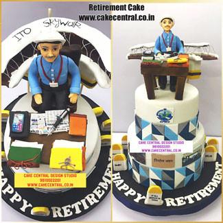 Office Desk Retirement Cake Delhi Online