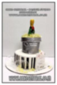Champagne Ice Bucket Theme Cake in Delhi Online