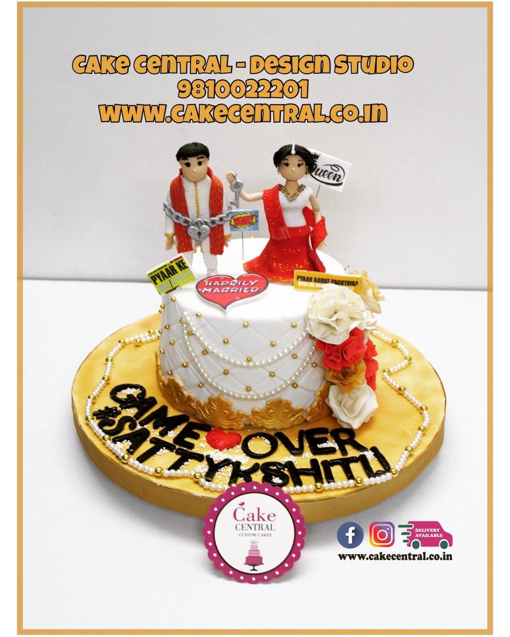 Game Over Wedding Cake Delhi