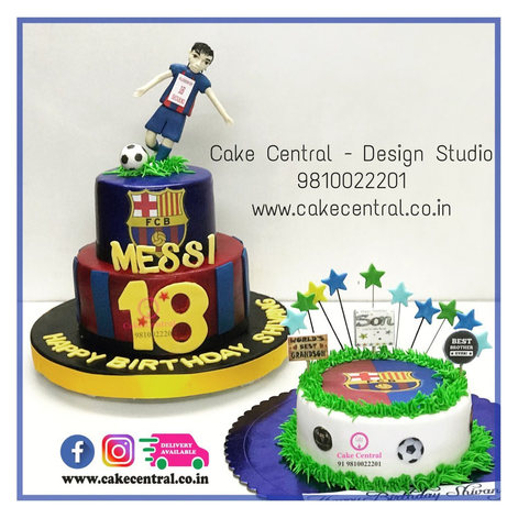 Messi Football Cake Delhi