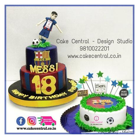 Messi Football Cake Delhi