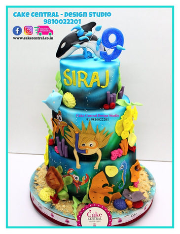 Sea World  Birthday Cake Delhi