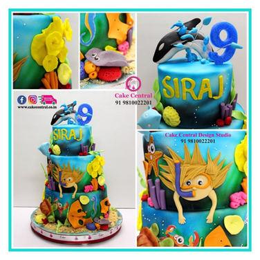 Underwater Sea Cake Delhi for Kids Birthday