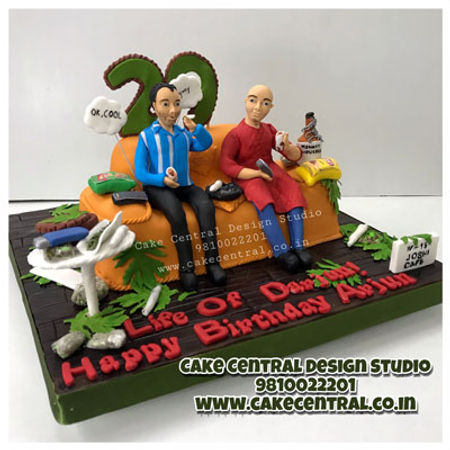 Marijuana_Weed_Theme_Cake_for_Boyfriend_Birthday_Delhi_Online