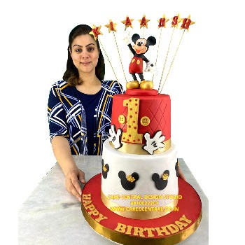 Best Mickey Mouse Cakes in Delhi for First Birthday
