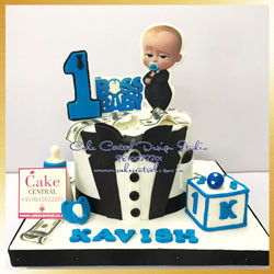 First Birthday Boss Baby Cake Delhi Online