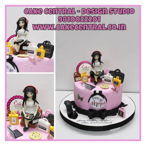 Born to Shop Birthday Cake Delhi