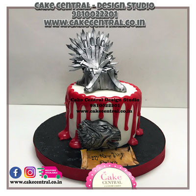 Iron thorne _Half Blood_Game of thrones Cakes_Delhi_Online