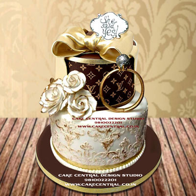 Engagement Cake with Ring Online in Delhi , Gurgaon , Noida