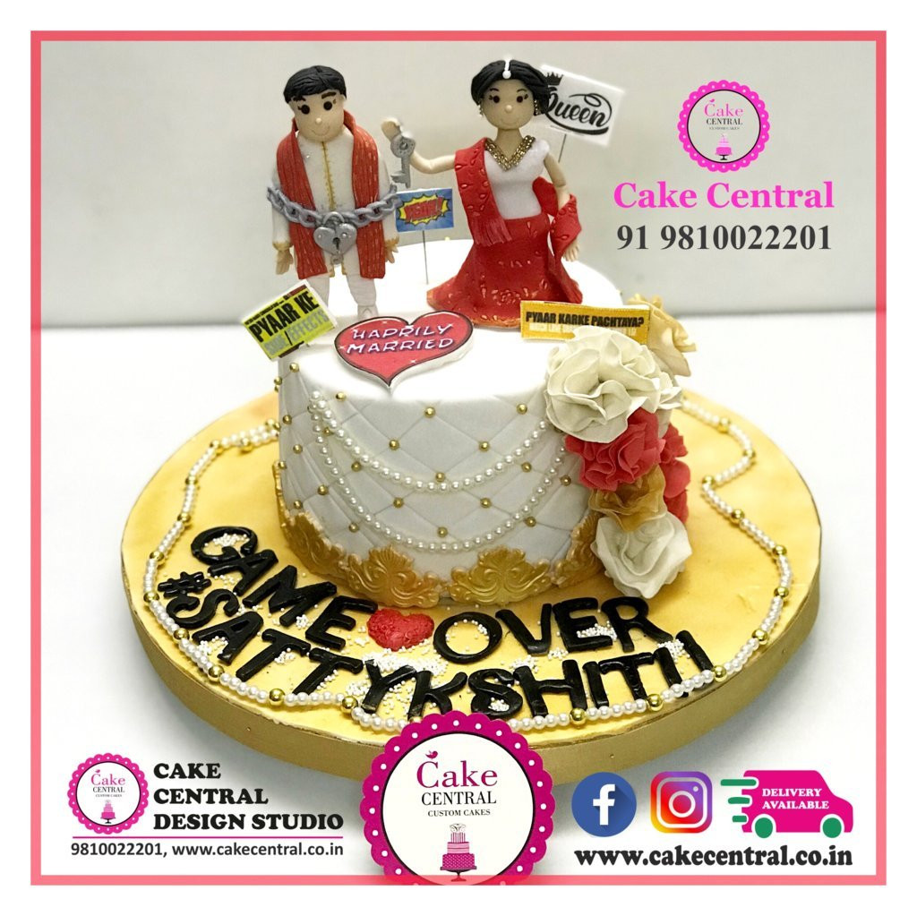 Anniversary Cakes Online In Delhi Romantic Wedding Aniversary Cakes