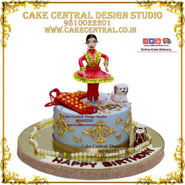 Princess Theme Birthday Cake in Delhi Online
