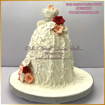 Christian Wedding Gown Cake Delhi Online